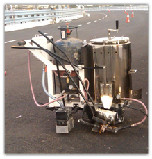 Hot Thermoplastic Operator Propelled Road Marking Machine